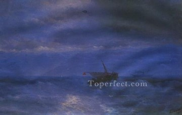 Boat Painting - caucasus from sea 1899 IBI seascape boat Ivan Aivazovsky