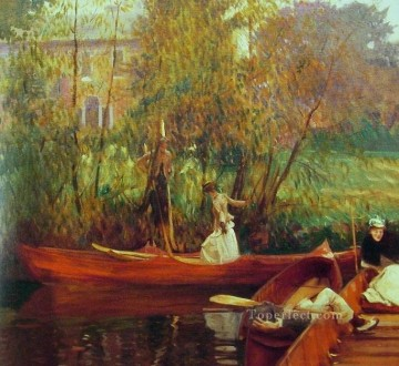 Boat Painting - A Boating Party John Singer Sargent