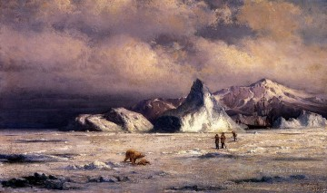 Boat Painting - Arctic Invaders boat seascape William Bradford