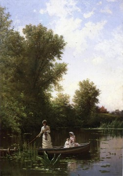 Boat Painting - Boating in the Afternoon Alfred Thompson Bricher
