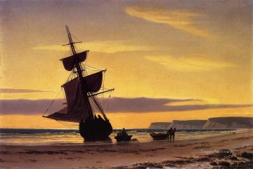 Bradford Canvas - Coastal Scene boat seascape William Bradford