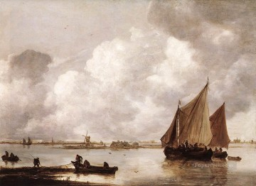 Haarlemer Meer boat seascape Jan van Goyen Oil Paintings