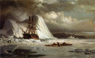 Icebound Ship boat seascape William Bradford Oil Paintings