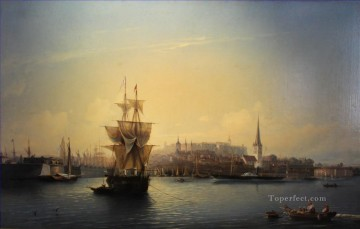 Landscapes Painting - Port of Tallinn Alexey Bogolyubov vessels