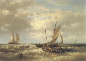 Boat Painting - The Fishers Abraham Hulk Snr boat seascape