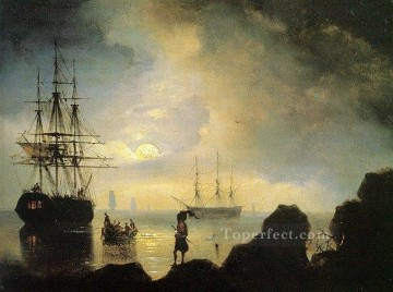fishermen on the shore IBI seascape boat Ivan Aivazovsky Oil Paintings