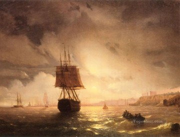 The Harbor At Odessa On The Black Sea seascape boat Ivan Aivazovsky Oil Paintings