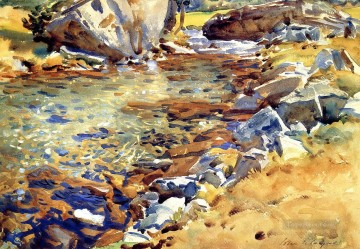 Brook among Rocks landscape John Singer Sargent Oil Paintings