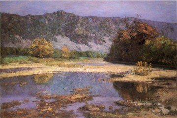Indiana Painting - The Muscatatuck Impressionist Indiana landscapes Theodore Clement Steele river