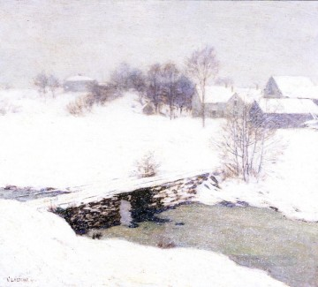 The White Mantle scenery Willard Leroy Metcalf Landscapes river Oil Paintings