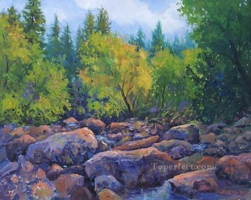 yxf018bE impressionism floral river Oil Paintings