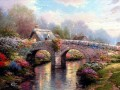 Blossom Bridge Thomas Kinkade Landscapes river