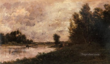 Bords De L oise Barbizon Impressionism landscape Charles Francois Daubigny river Oil Paintings