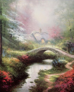 Brookside Hideaway Thomas Kinkade Landscapes Oil Paintings