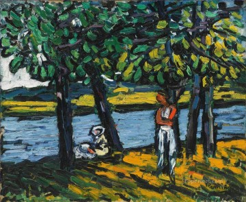 CANOTIERS IN CHATOU Maurice de Vlaminck river landscape Oil Paintings