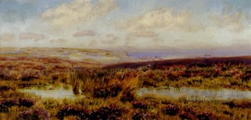 Fylingdales Moor landscape Brett John river Oil Paintings