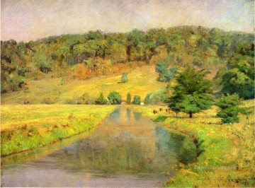 Gordon Hill Impressionist Indiana landscapes Theodore Clement Steele river Oil Paintings