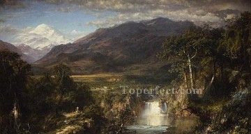 Heart Of The Andes scenery Hudson River Frederic Edwin Church Landscapes Oil Paintings