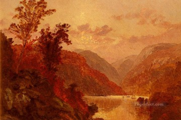 In The Highlands Of The Hudson landscape Jasper Francis Cropsey river Oil Paintings