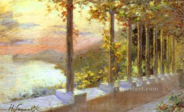 Italian Landscape Polish Henryk Siemiradzki river Oil Paintings