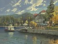 Lake Arrowhead Thomas Kinkade Landscapes river