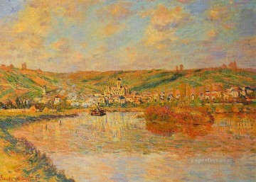 Afternoon Works - Late Afternoon in Vetheuil Claude Monet Landscapes river