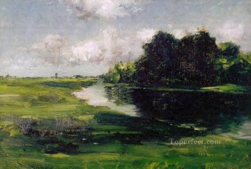 Long Island Landscape after a Shower of Rain impressionism William Merritt Chase river Oil Paintings