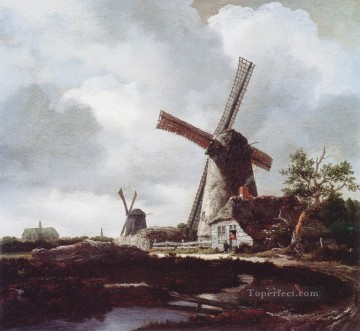 Mills landscape Jacob Isaakszoon van Ruisdael river Oil Paintings