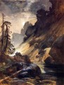 Moonlight Devils Den landscape Thomas Moran river