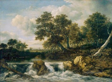 Mount landscape Jacob Isaakszoon van Ruisdael river Oil Paintings