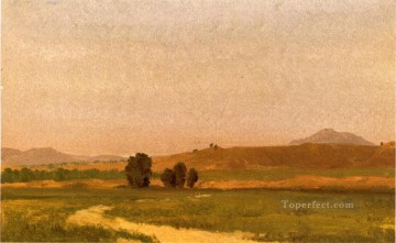 plain Art - Nebraska On the Plains Albert Bierstadt Landscapes river