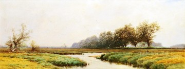 Newburyport Marshes Alfred Thompson Bricher river Oil Paintings