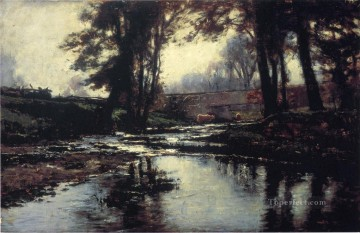 Indiana Painting - Pleasant Run Impressionist Indiana landscapes Theodore Clement Steele river