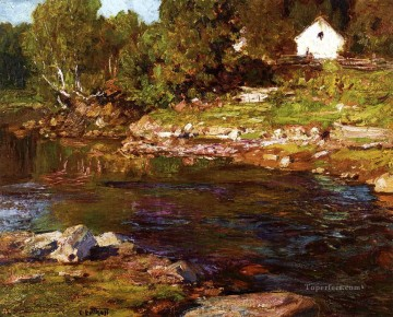 Souvenir of Canada landscape beach Edward Henry Potthast river Oil Paintings