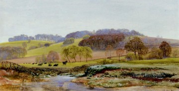 Springtime Near Morden landscape Brett John river Oil Paintings