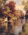 Sunny Afternoon on the Canal landscape Louis Aston Knight river