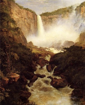 Tequendama Falls near Bogota New Granada scenery Hudson River Frederic Edwin Church Landscapes Oil Paintings