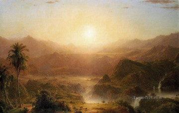 Brook River Stream Painting - The Andes of Ecuador2 scenery Hudson River Frederic Edwin Church Landscapes
