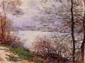 The Banks of the Seine Ile de la GrandeJatte Claude Monet Landscapes river