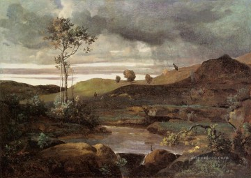 The Roman Campagna in Winter Jean Baptiste Camille Corot river Oil Paintings
