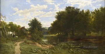 The Water of Leith Samuel Bough river landscape Oil Paintings