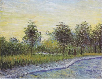 asnieres oil painting - Way in the Voyer d Argenson Park in Asnieres Vincent van Gogh Landscapes river