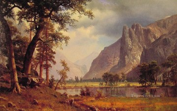 Yosemite Valley Albert Bierstadt Landscapes river Oil Paintings