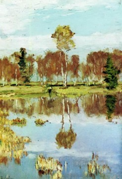 Artworks in 150 Subjects Painting - autumn 1895 Isaac Levitan river landscape