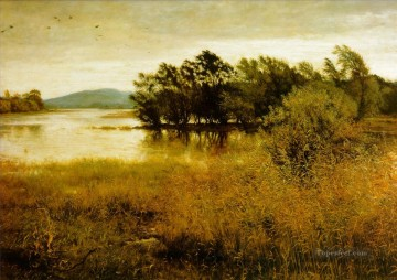chill october landscape John Everett Millais river Oil Paintings