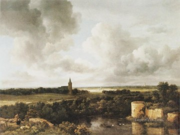 landscape Jacob Isaakszoon van Ruisdael river Oil Paintings