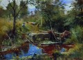 landscape with bridge Ivan Ivanovich stream