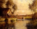 old mill in normandy landscape Louis Aston Knight river