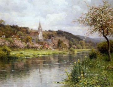 mornings on the seine monet Painting - Along the seine landscape Louis Aston Knight river
