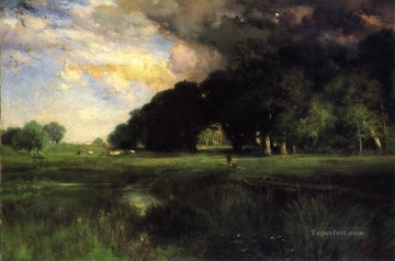 storm Works - Approaching Storm landscape Thomas Moran river